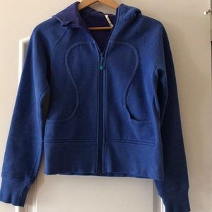 Lululemon royal zip front hoodie. Small